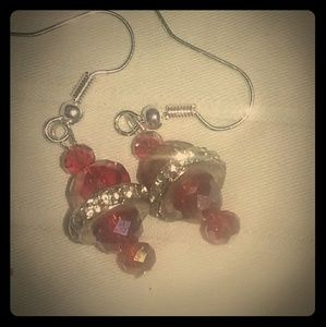 glass earrings ( new,)